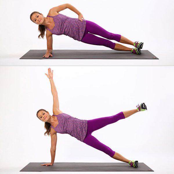 Упражнения боковая планка и усложнённая боковая планка