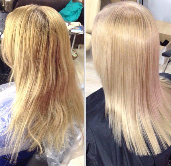 Лифтинг для волос: до и после