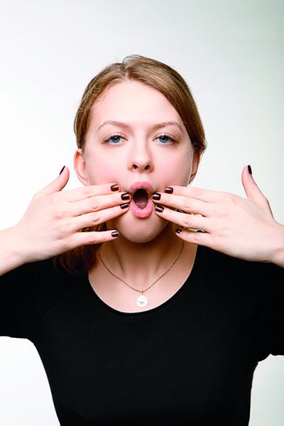 Вытягивание рта буквой «о»