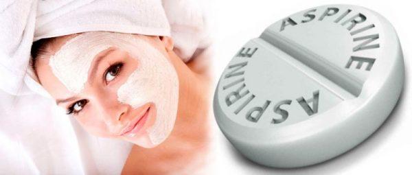 Аспирин и косметическая маска — коллаж