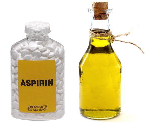Аспирин и растительное масло