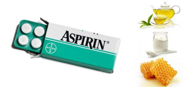 Аспирин с чаем, йогуртом и мёдом