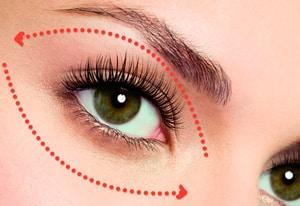 Массажные линии области вокруг глаз