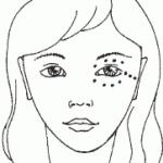 Активные точки Шиатсу на лице