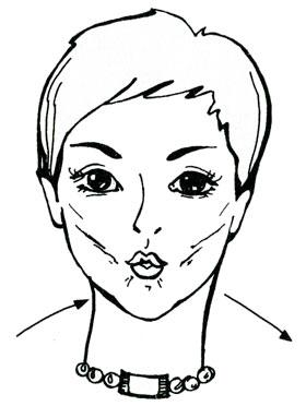 Выдувание воздуха через губы