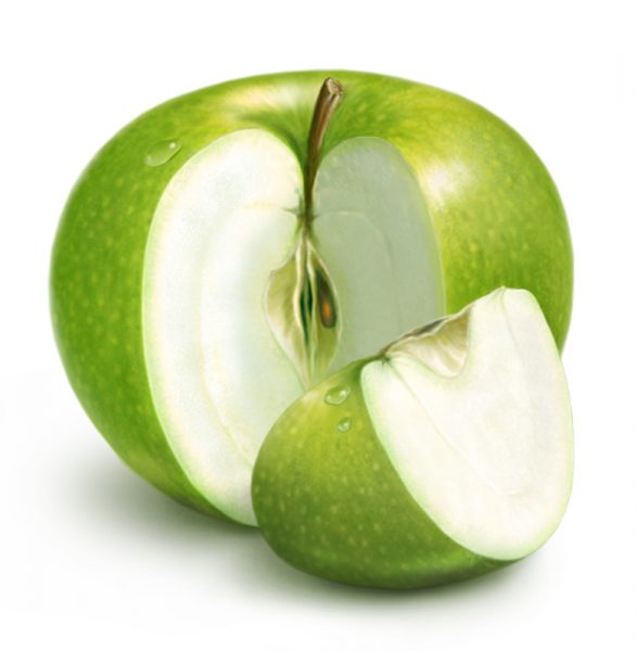 Зелёное яблоко