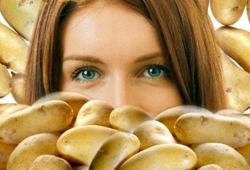 Девушка и картофель