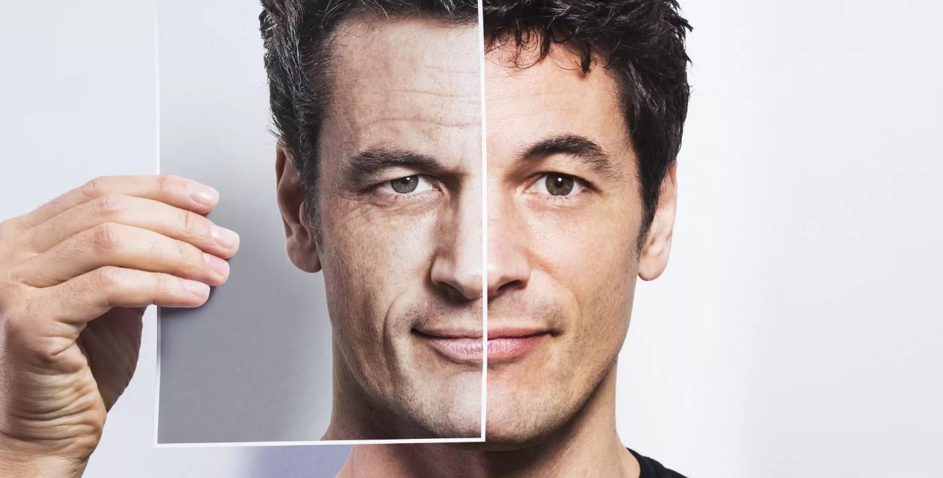 мужчина и морщинв