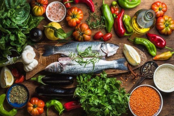 Рыба, овощи, крупы и масло