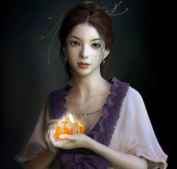 Принцесса с апельсином