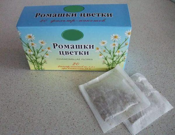 Сухие цветки ромашки в упаковке
