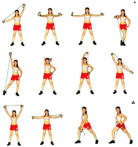 Упражнения с эспандером для тренировки верха