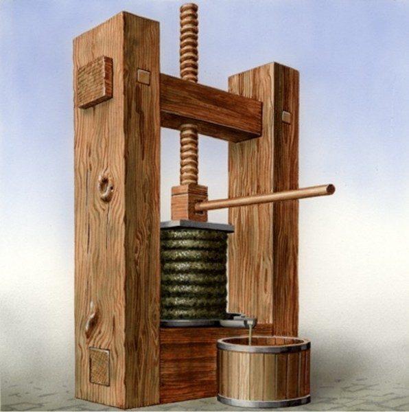 деревянный пресс для холодного отжима кунжутного масла