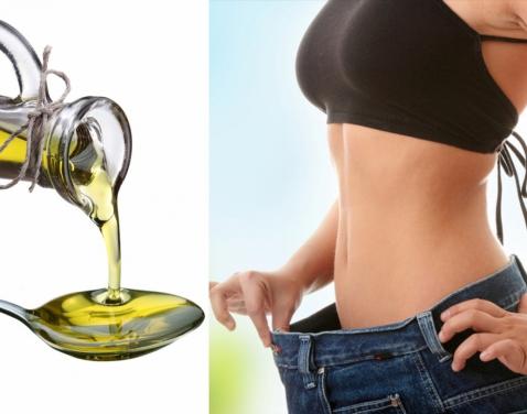 Девушка и растительное масло