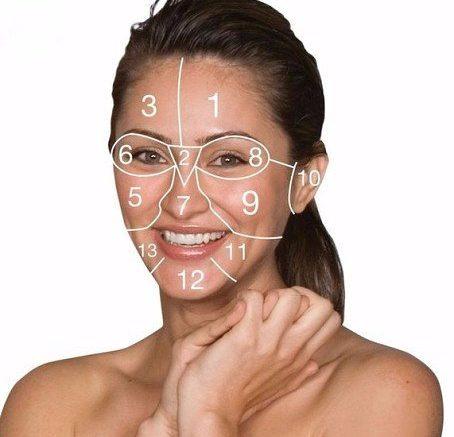 Группы мышц лица схематично