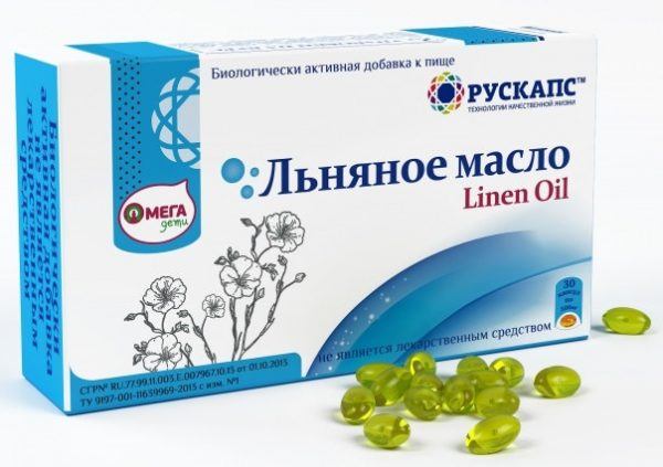 Льняное масло в капсулах