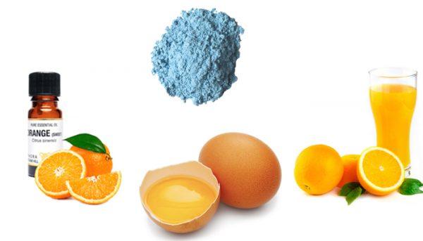 Масло апельсина, сок, глина, яйцо