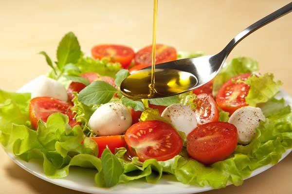 Салат с льняным маслом