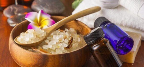 Соль для ванны и эфирные масла