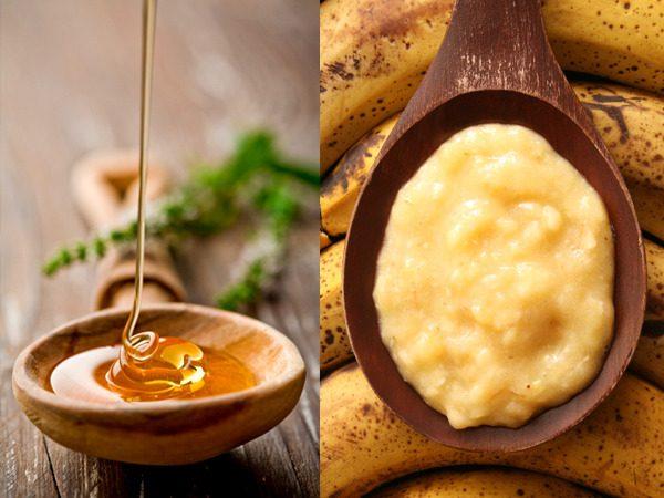 мёд и пюре из банана