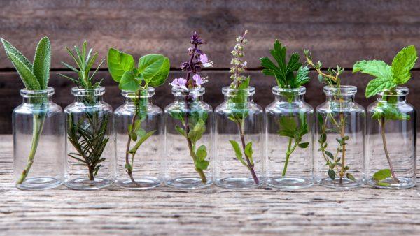 Бутылочки с разными травами