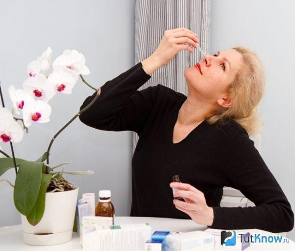 Закапывание масла в нос