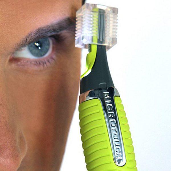Применение мужского триммера для бровей