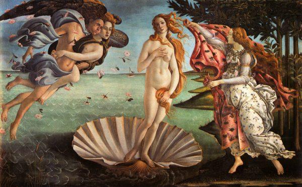 Картина Сандро Ботичелли «Рождение Венеры»