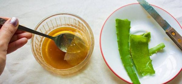 Мёд и листья алоэ