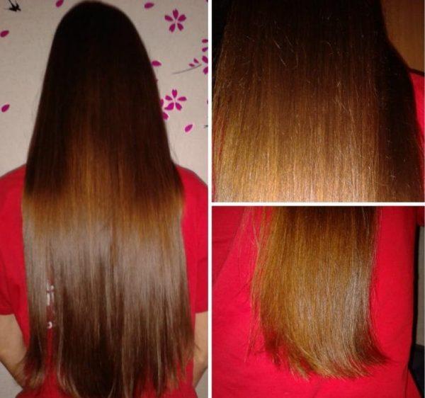 Волосы девушки, которая использует лавровое масло для волос