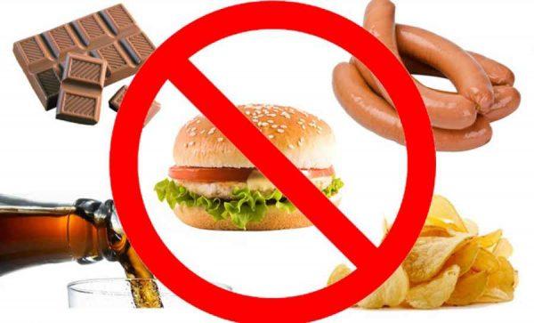 запрет на продукты с высокой калорийностью