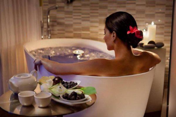 ванна с кокосовым маслом