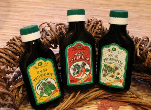 Бутылочки с репейным маслом