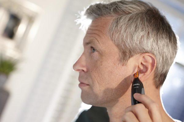 Использования триммера для уха