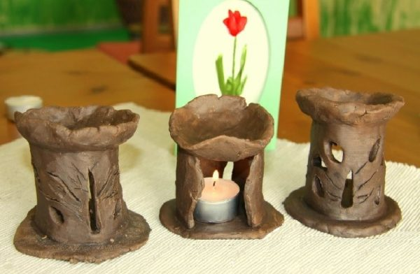 Аромалампы из глины