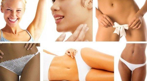 Зоны эпиляции на лице и теле