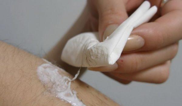 Обработка кожи лосьоном