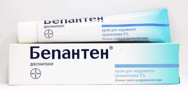 Упаковка и тюбик крема Бепантен