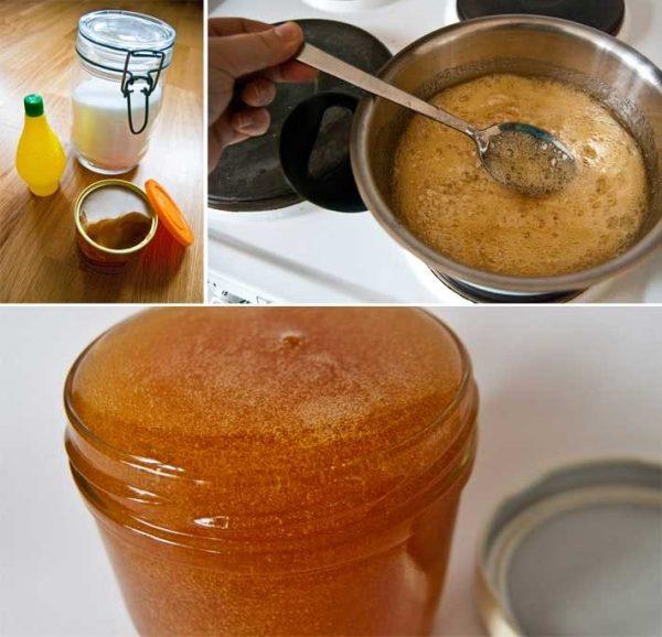 Приготовление пасты для шугаринга в домашних условиях