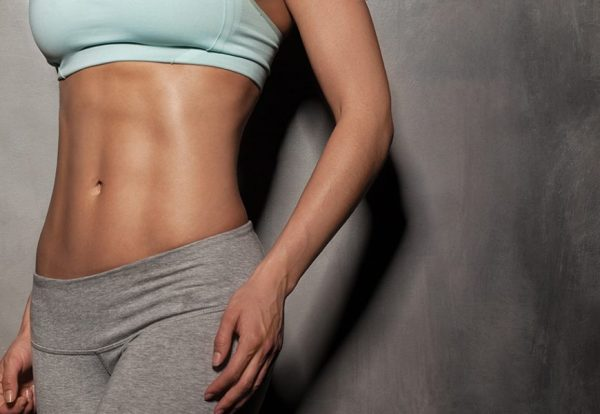 Эффект укрепления мышц пресса в результате использования миостимулятора от Gezatone и физических упражнений