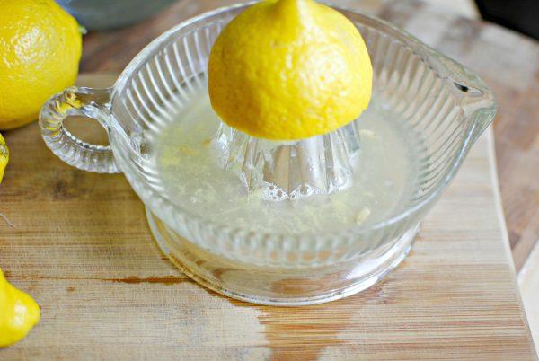 Сок половины лимона