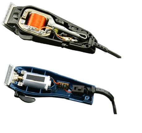 Вибрационная с электромагнитной катушкой и роторная машинки