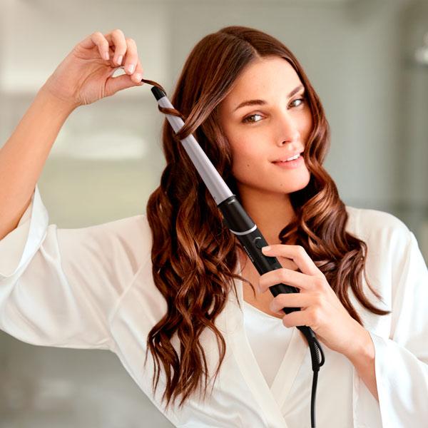 Накрутка волос средней длины возле лица