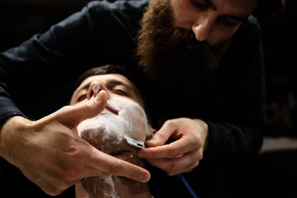 бритьё опасной бритвой