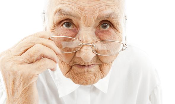 Старческое изнурённое лицо