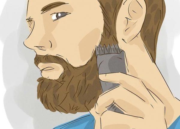 Стрижка бороды с помощью триммера