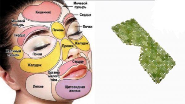 Нефритовая маска для лица