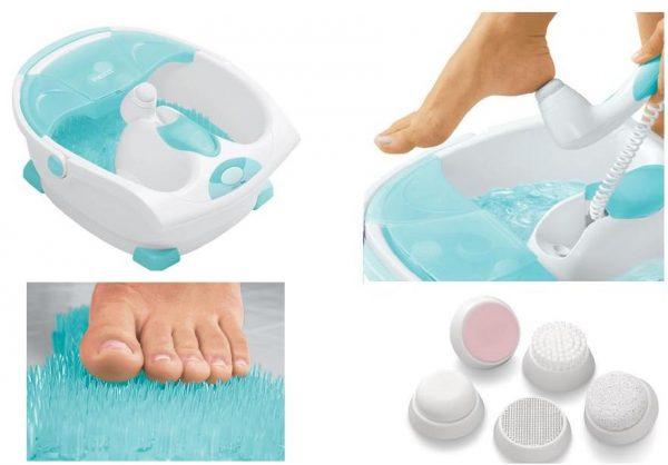 Четыре миниатюры с массажными приспособлениями для ног