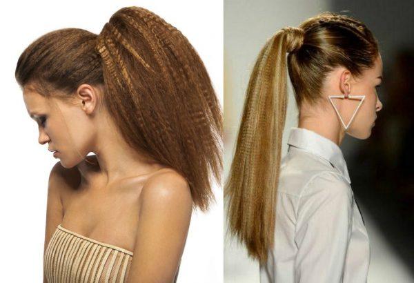 Укладки на длинные волосы с гофре