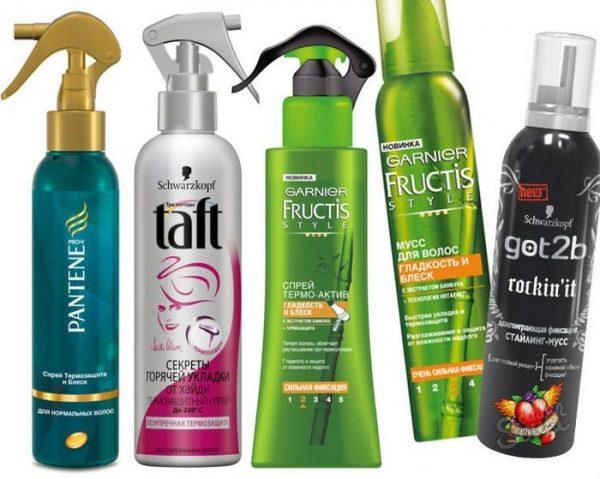 Средства для термозащиты волос